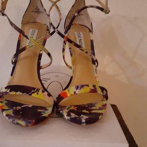 Purple Multicolored sandal Heels